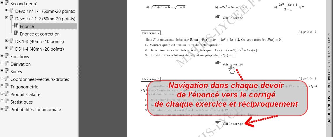 Devoirs corrig s math matiques premi re s - Exercice corrige de table de karnaugh pdf ...