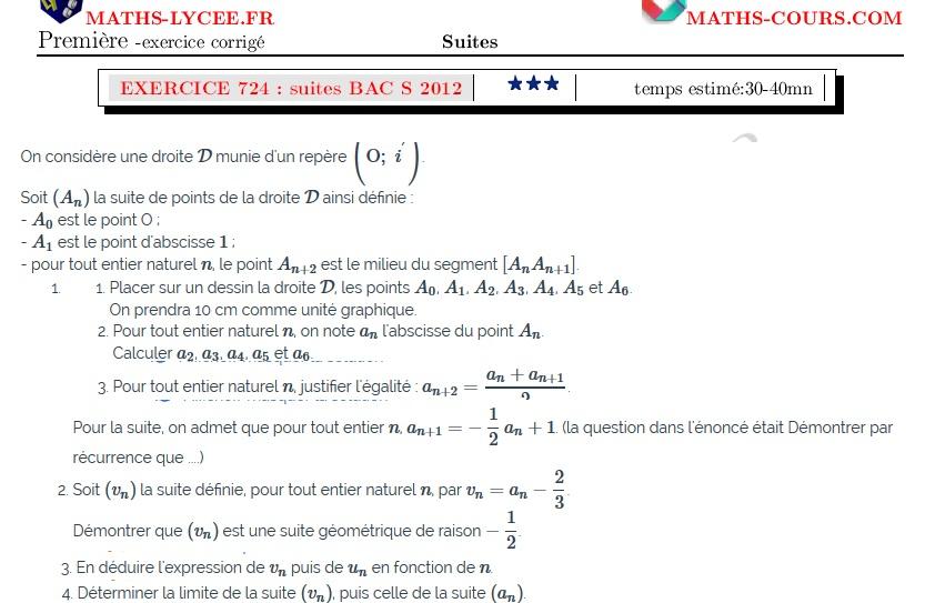 MATHS-LYCEE.FR exercice corrigé maths première spécialité ...